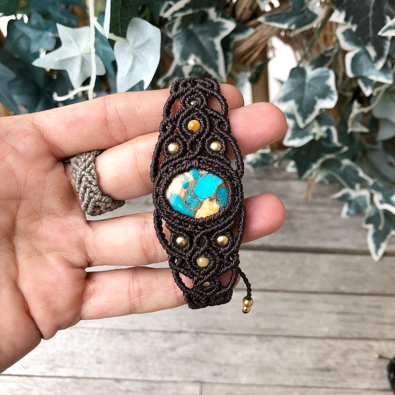 Makramee Armband Türkis