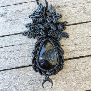 Makramee Halskette - Baum des Lebens